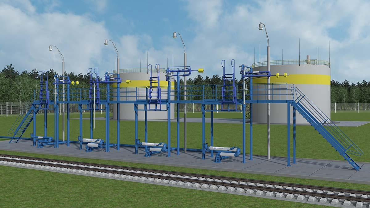 Geležinkelio cisternų aptarnavimo įranga